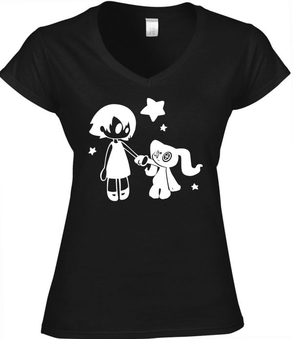 T-Shirt Female Gothic Girl / Gothic Art