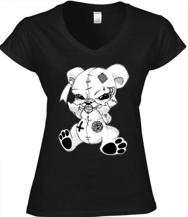 T-Shirt Female Teddy Metalhead / Occult Art
