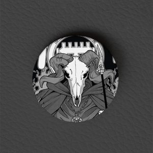 Button Baphomet / Occult Art