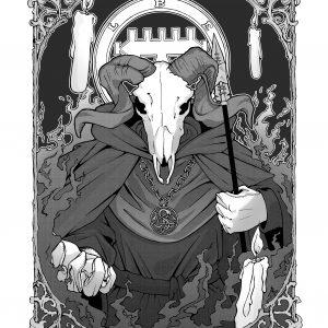 Baphomet detail / Occult Art