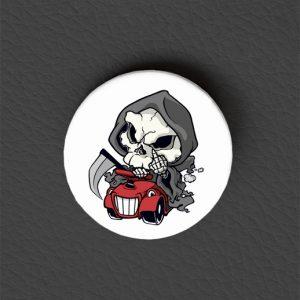 Button Grim Reaper Bobbycar / Occult Art