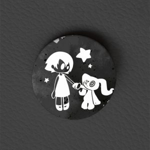 Button Gothic Girl / Gothic Art