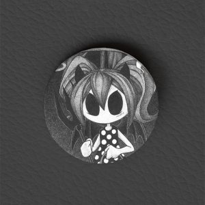 Button Halloween Girl / Occult Art