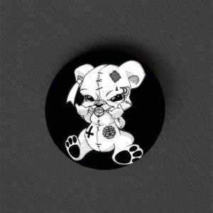 Button Teddy Metalhead / Occult Art