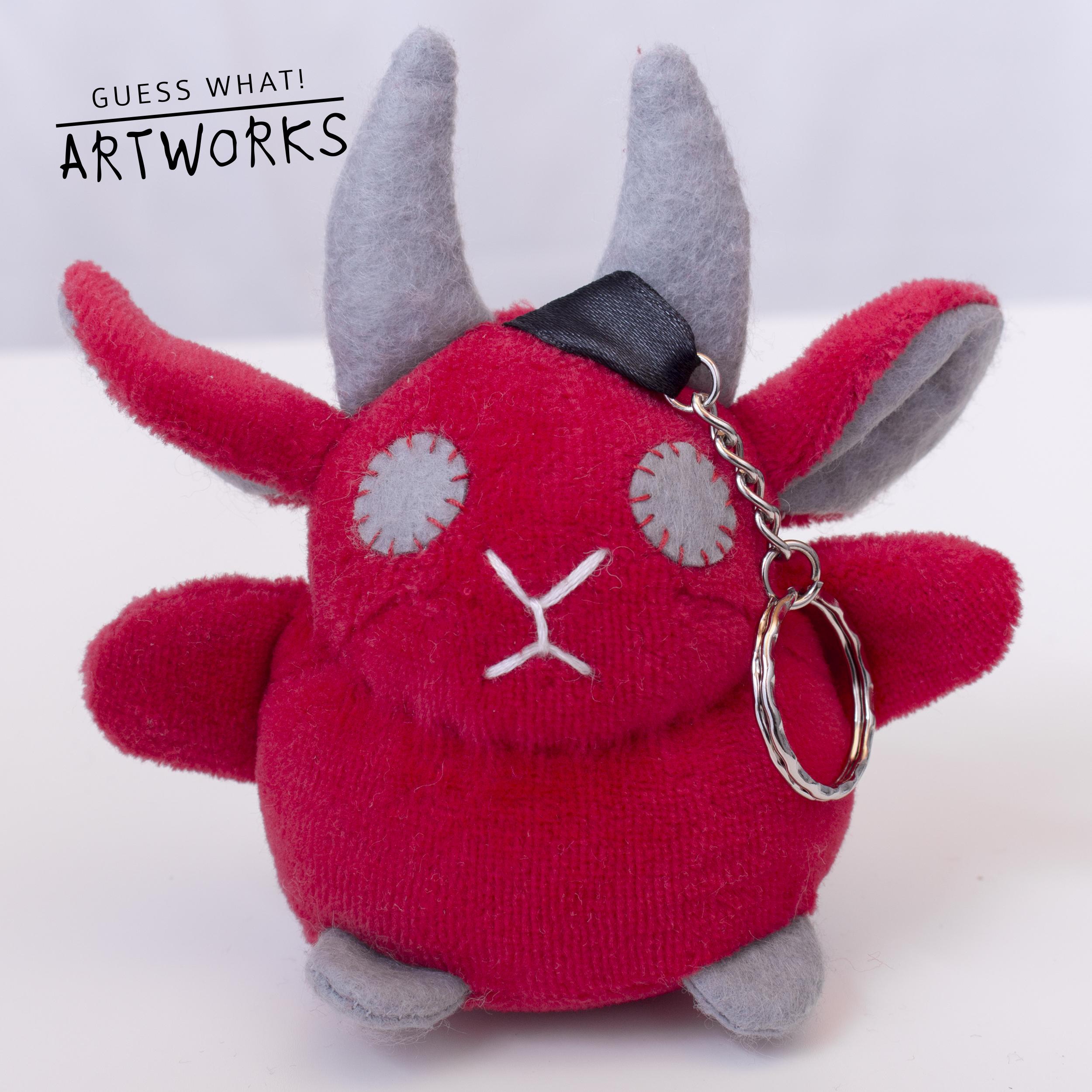 Red Baphomet Keychain Blank